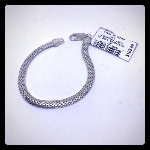 """TUPLIANO Sterling 7"""" Bracelet [JW-42]"""